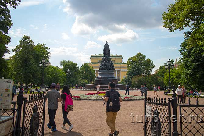 Невский проспект площадь Островского Екатерина
