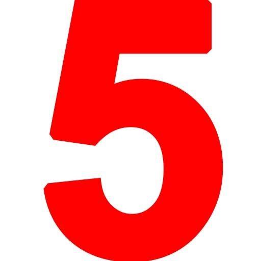красная цифра 5