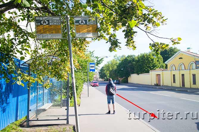остановка транспорта в Пушкине
