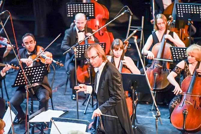 дирежер и оркестр