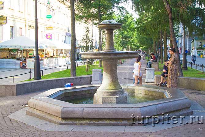 красивый фонтан на аллее
