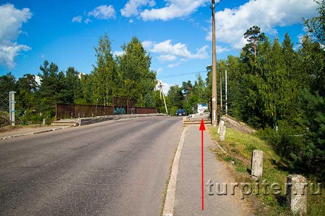 направление движения по мосту