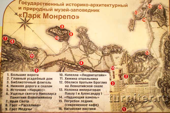 артефакты на схеме парка