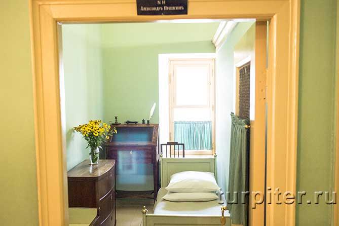 общий вид комнаты Пушкина