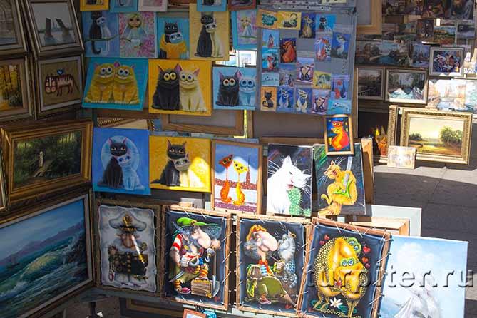 веселая котовасия на картинах художников