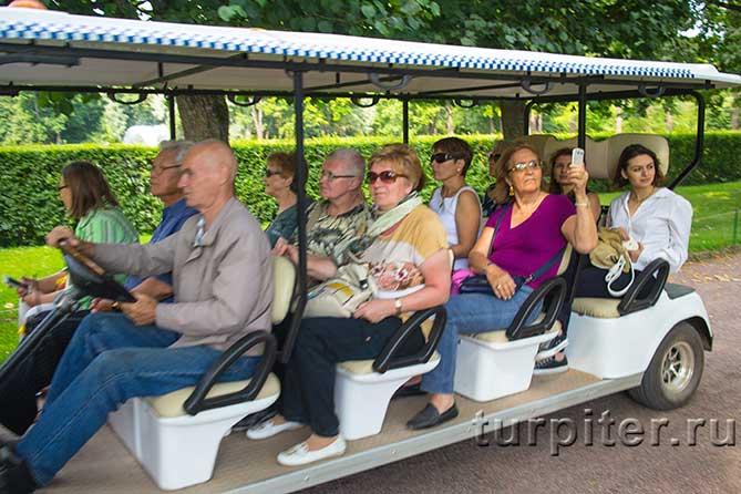 полный электрокар с пассажирами