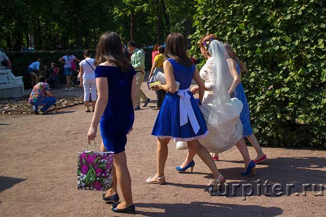 девушки ведут невесту