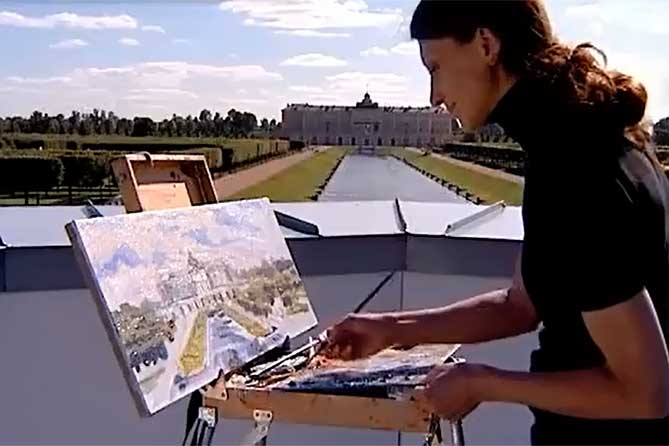 рисует дворец