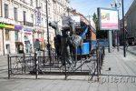 Аллея для прогулок на 6 и 7 линиях на Васильевском острове Санкт-Петербурга