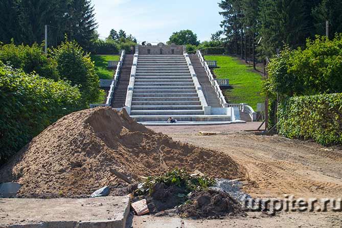 ремонт Золотой каскад август 2015
