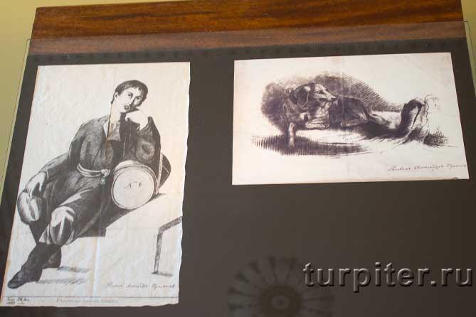 два рисунка Пушкина в Лицее
