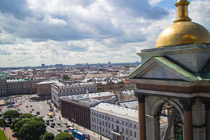 вид на Петербург сверху