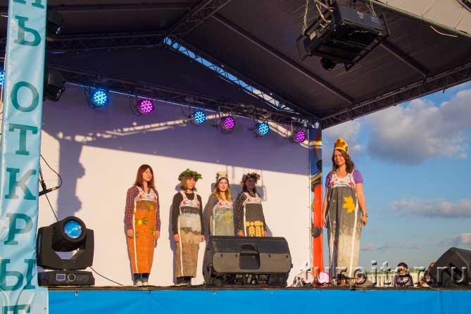 пять девушек на сцене