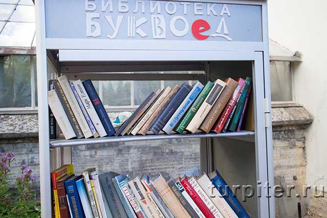 книжный шкаф на улице