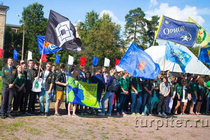 флаги студенческих отрядов СОП