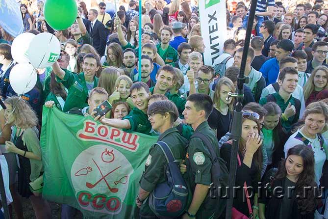 зеленый флаг строительный отряд СПбПУ