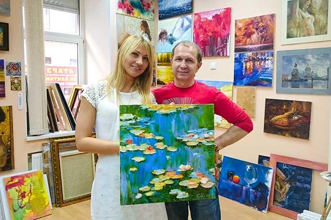 девушка и самтер художник