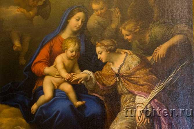 Божия Матерь взяла руку Екатерины