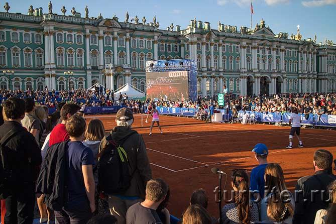 болельщики смотрят теннису Зимнего