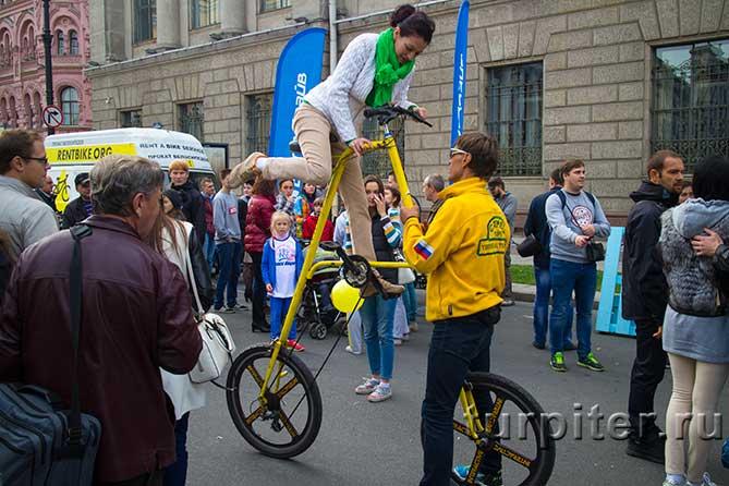 двухметровый велосипед