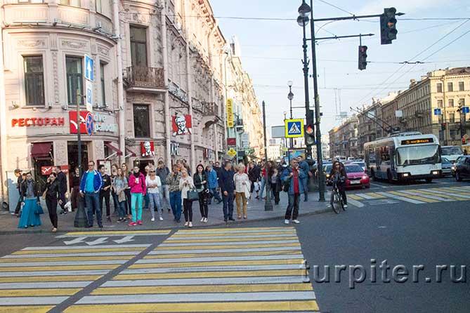 пешеходный переход красный