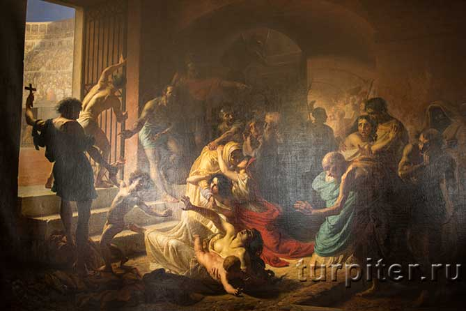 ребенка ведут на растерзание в Колизей