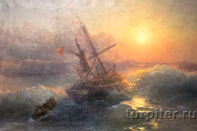 тонет корабль Айвазовский