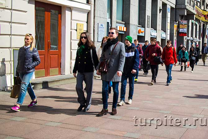 прогулка под солнцем Петербурга
