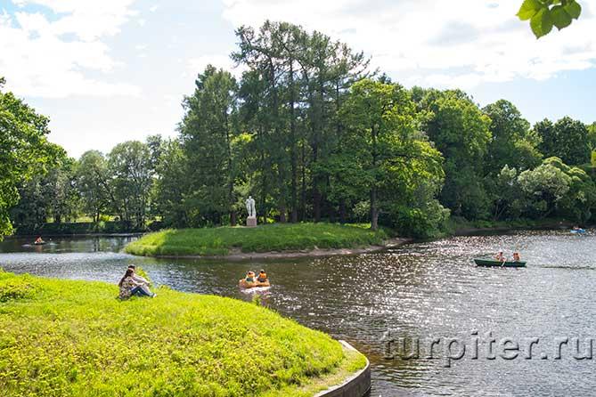 Елагин парк прогулка по воде