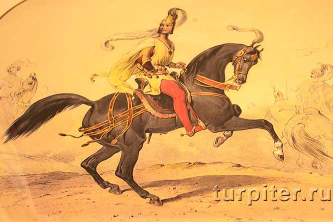 Карл на коне в доспехах