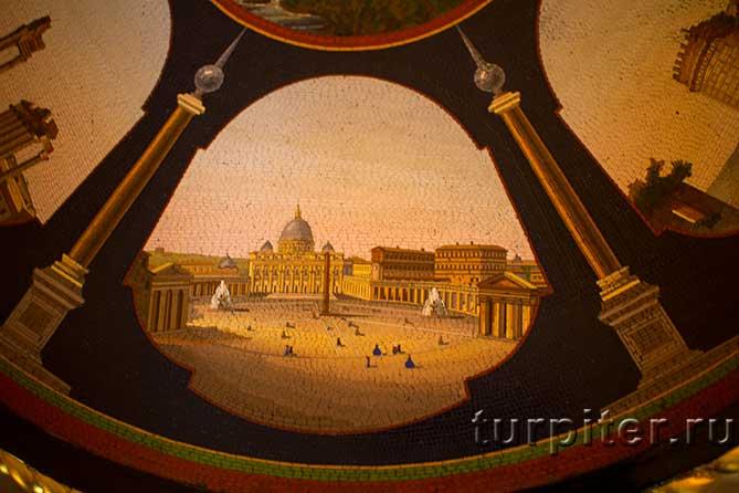 Царицын павильон фрагмент мозаики