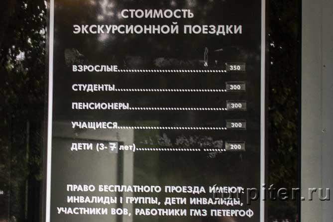 цены паровоз по парку