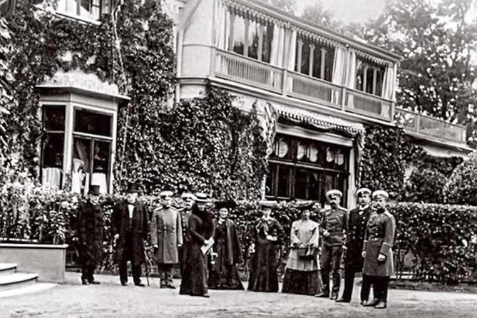 Дворец Коттедж на старом фото