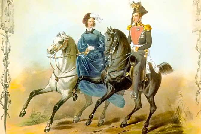 конная прогулка царской семьи