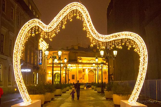 арка новогодняя Санкт-Петербург Малая Садовая улица