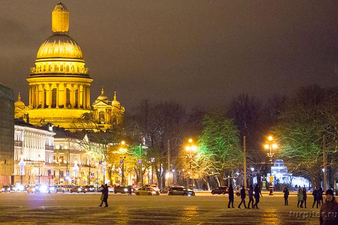 красивый вид на собор и фонтан