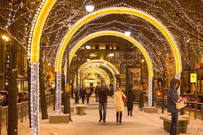 Санкт-Петербург украшения к Новому году