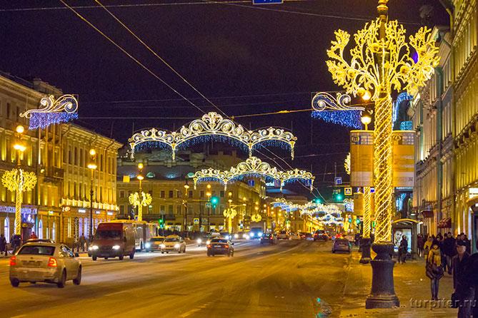 Санкт-Петербург Невский проспект Новый год